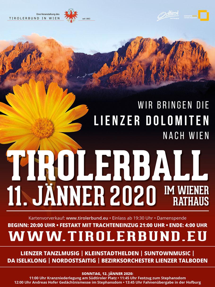 Tirolerball 2020 Wien Veranstalter Lienzer Dolomiten