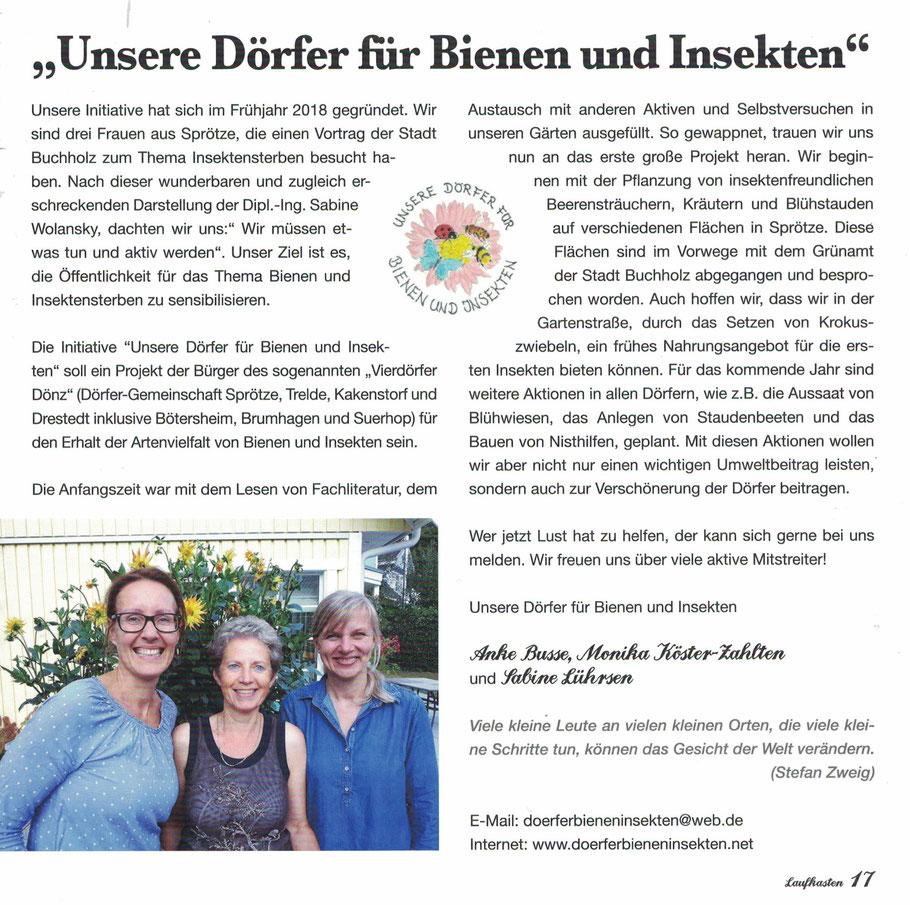 Quelle: Sprötzer Laufkasten, Ausgabe 9, November 2018
