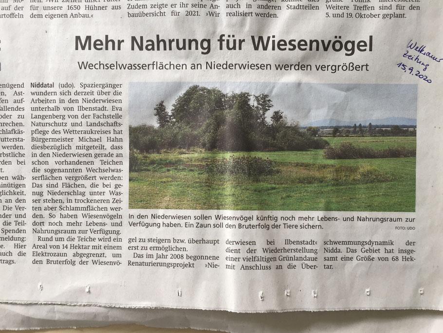 Wetterauer Zeitung vom 15.09.2020