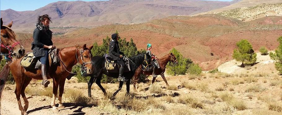 randonnée à cheval dans l'Atlas