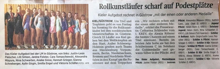 Kieler Nachrichten vom 28.06.2019