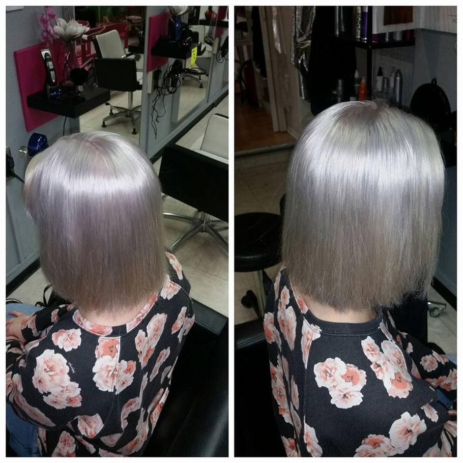 Silber Haure graue haare granny hair