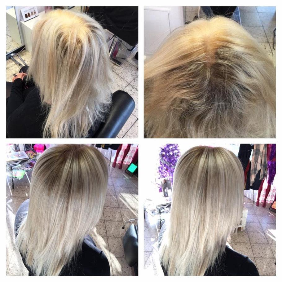 blond silber haare selber färben