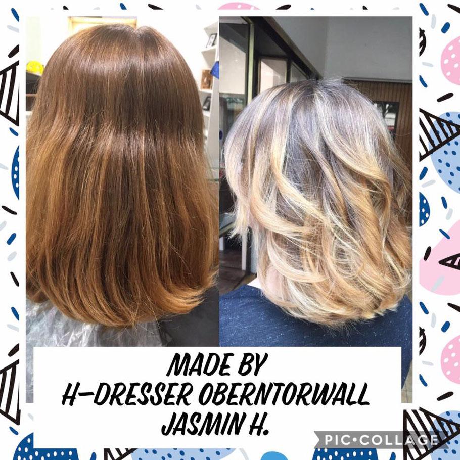 Friseur Bielefeld blonde Haarfarbe von Jasmin aus dem Oberntorwall