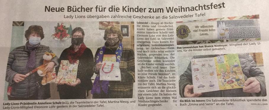 Altmarkzeitung am 18. 12. 2020