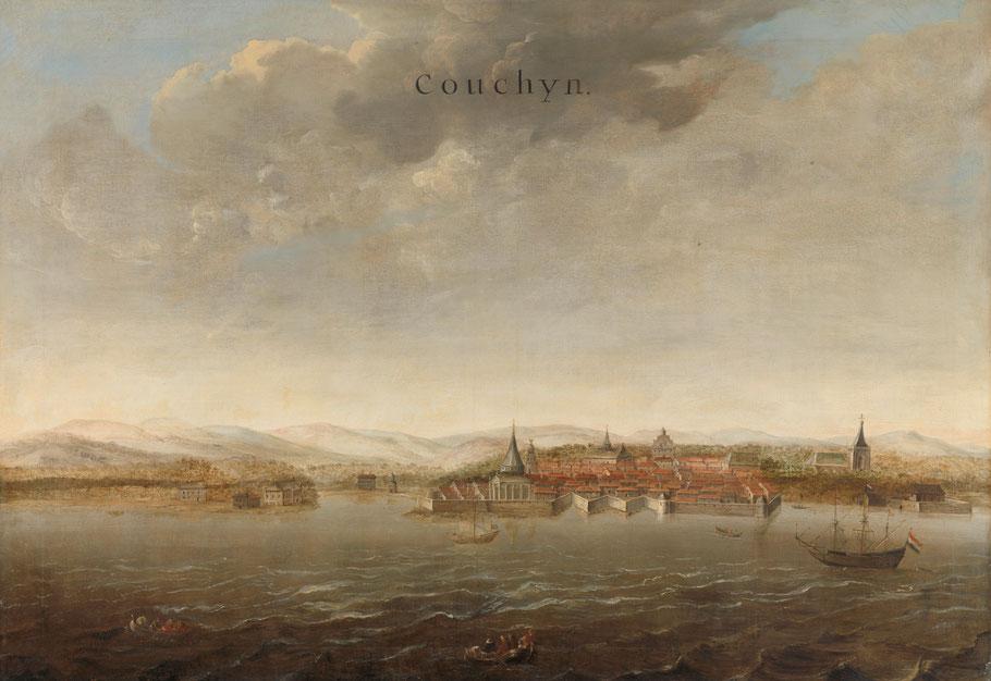 Cochin anna 1663 door Philip Vingboom (collectie Rijksmuseum)