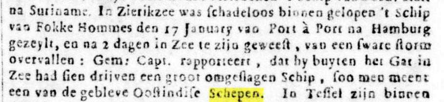 Oprechte Haerlemsche Courant 11 februari 1735