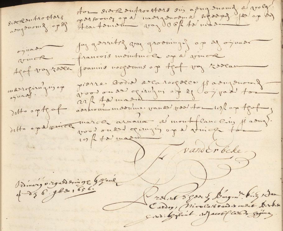 De aansteling van Jan ( hier Joannis genoemd) op de Hof van Zeeland  NA 1.04.02.7247
