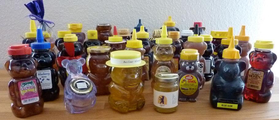 Sammlung von Honigbären