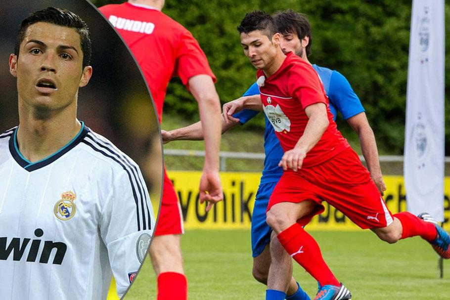Sakis A. Kotsabassidis und Cristiano Ronaldo: Sakis weiß: Als Double von Fußball-Profi Cristiano Ronaldo (l.) hat man es nicht leicht.