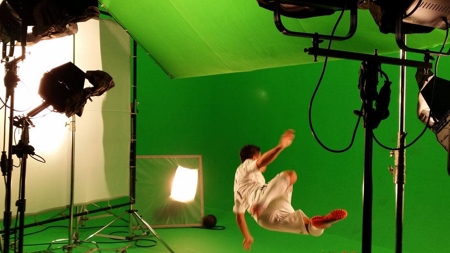 Fussball Freestyler für Film, Fernsehen und TV Werbespots
