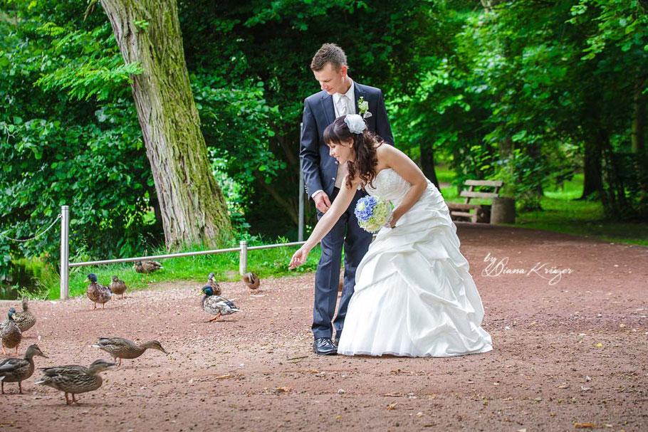 Hochzeitsfotos Stadtpark Burgstädt