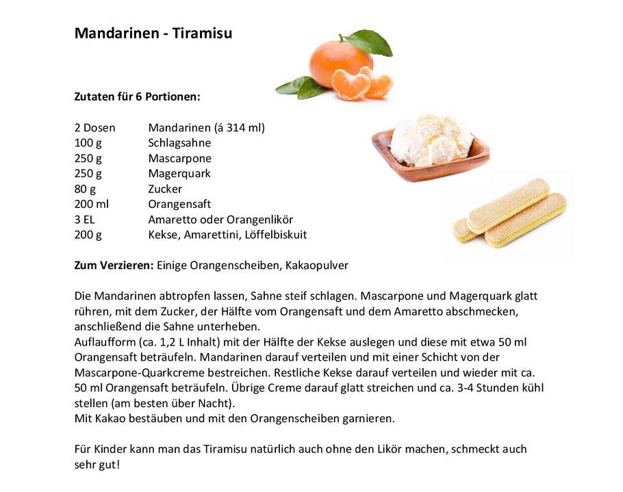 Mandarinen Tiramisu Rezept