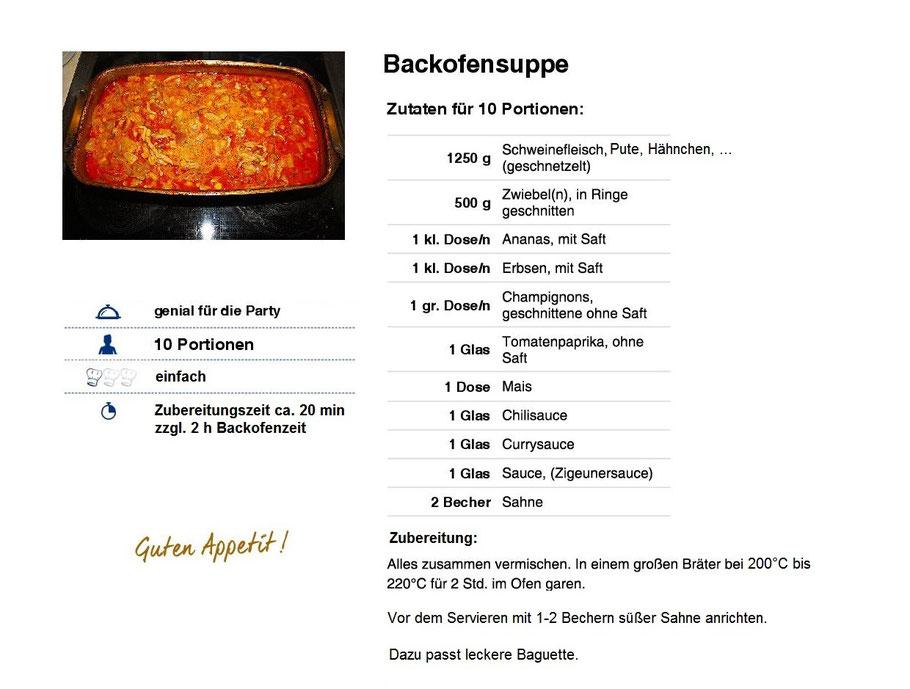 Backofensuppe Rezept