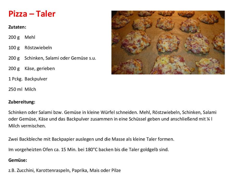 Pizza Taler Rezept