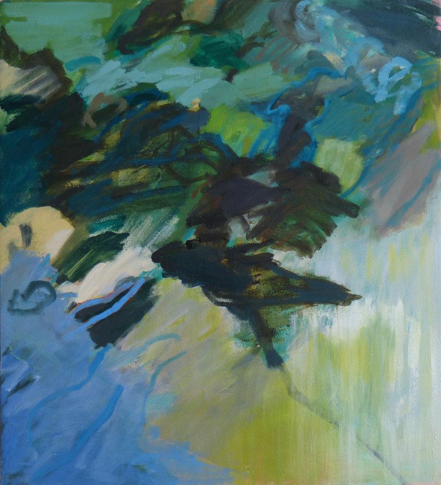 August gegen Abend 2014 55 x 50 cm Öl / Leinwand