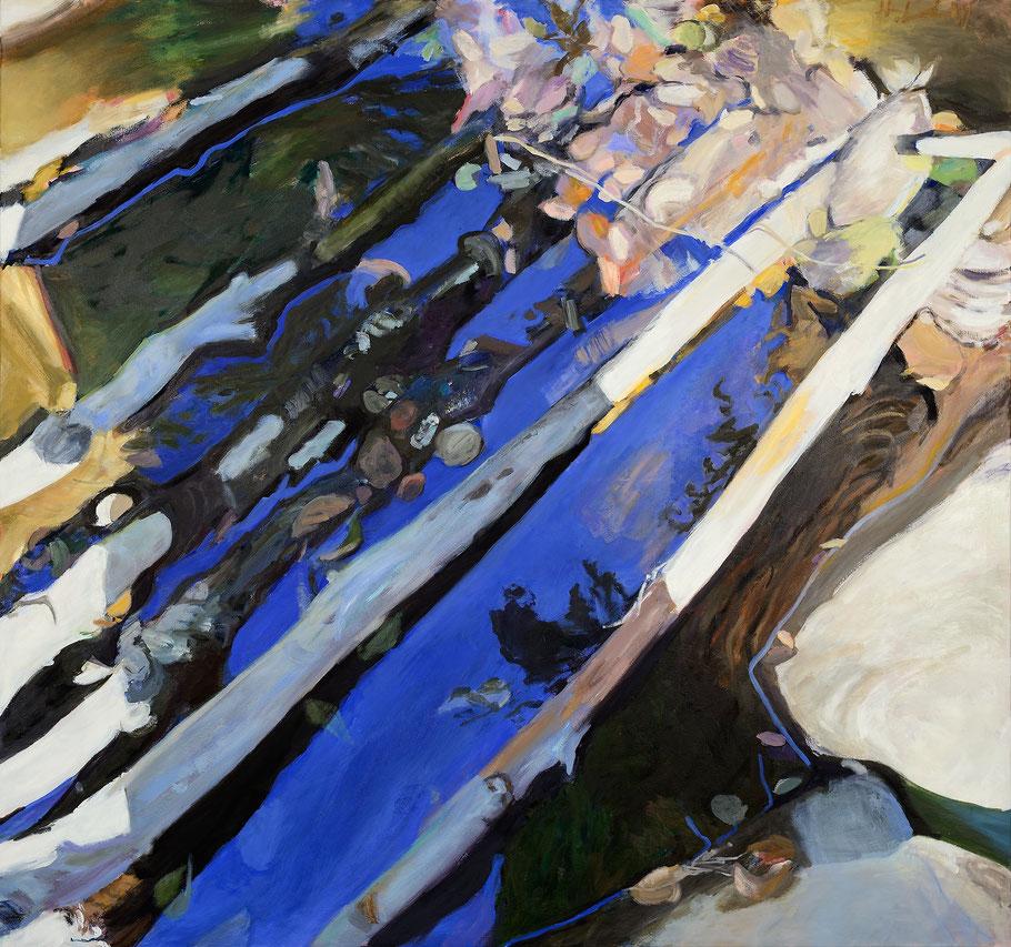 Traum nach dem Sommer 2015 160 x 150 cm Öl / Leinwand
