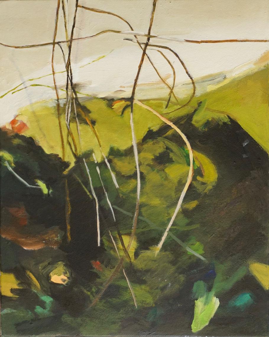 Detail / Ufer 21 2021  50 x 40 cm  Öl / Leinwand - Herta Müller