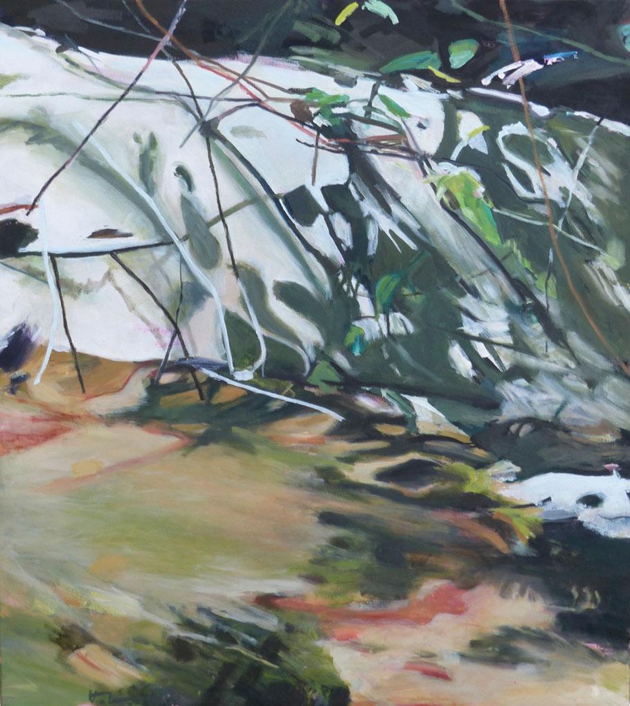 fiume Nr. 2 2013 100 x 90 cm Öl / Leinwand