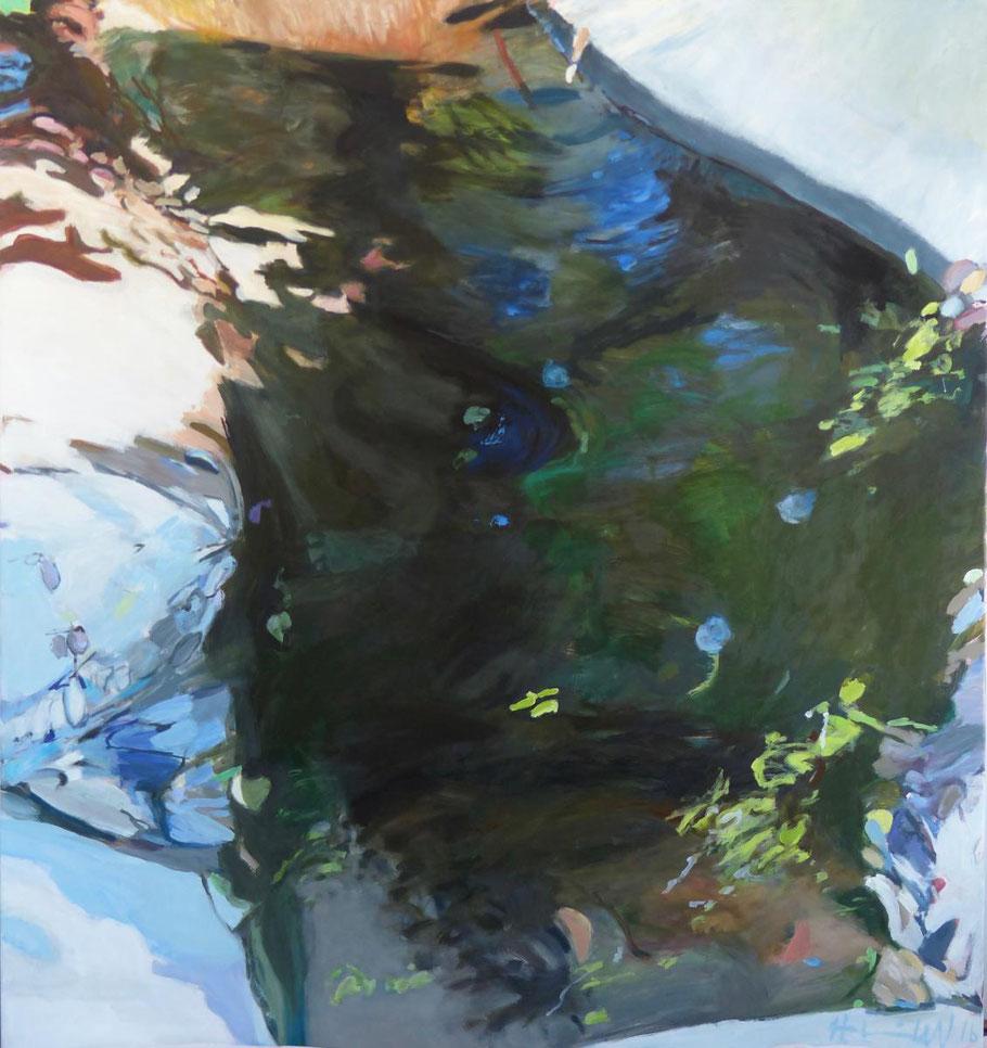 unsichtbar sichtbar 2016 160 x 150 cm Öl / Leinwand