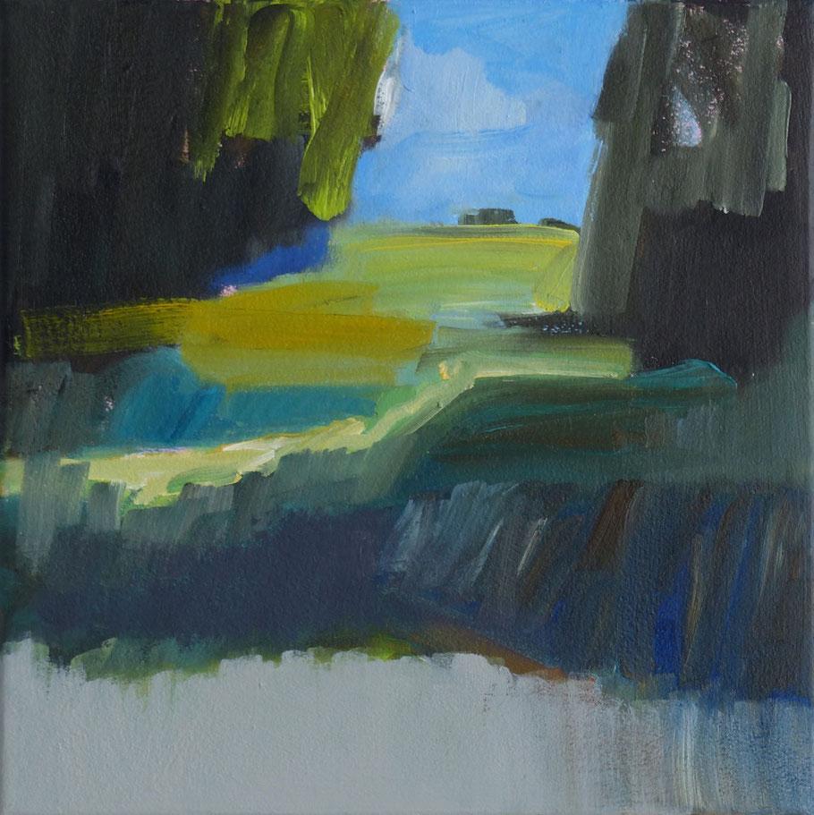 Sauen 2015 30 x 30 cm Öl / Leinwand