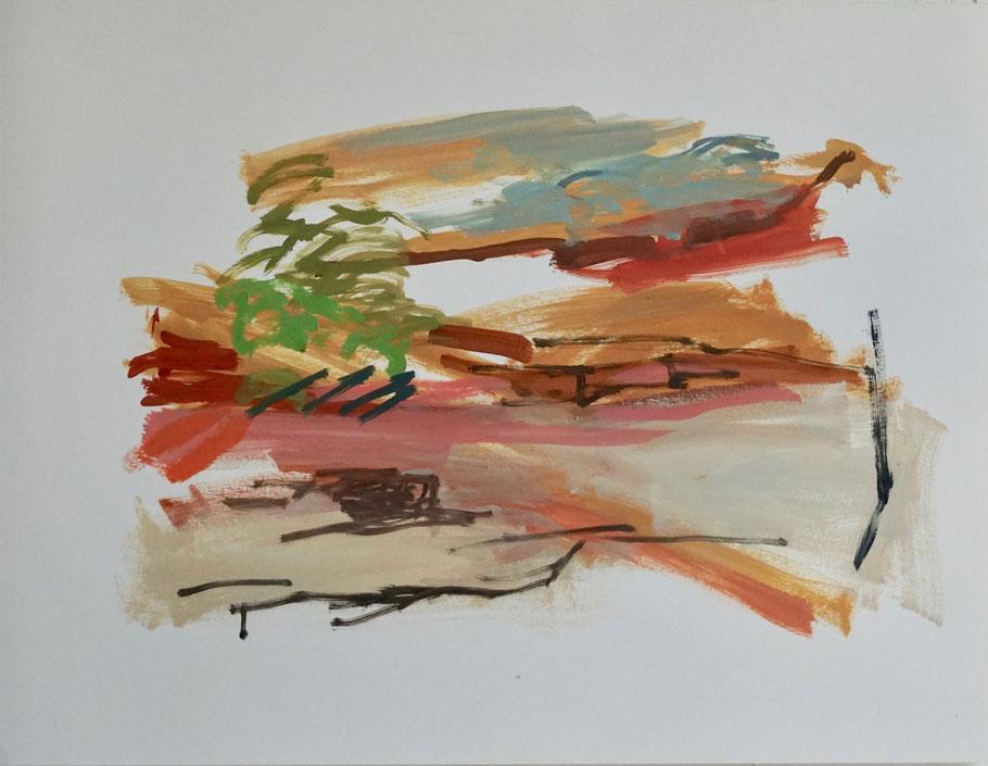 2 / 18   2018   50 x 65 cm  Öl / Papier