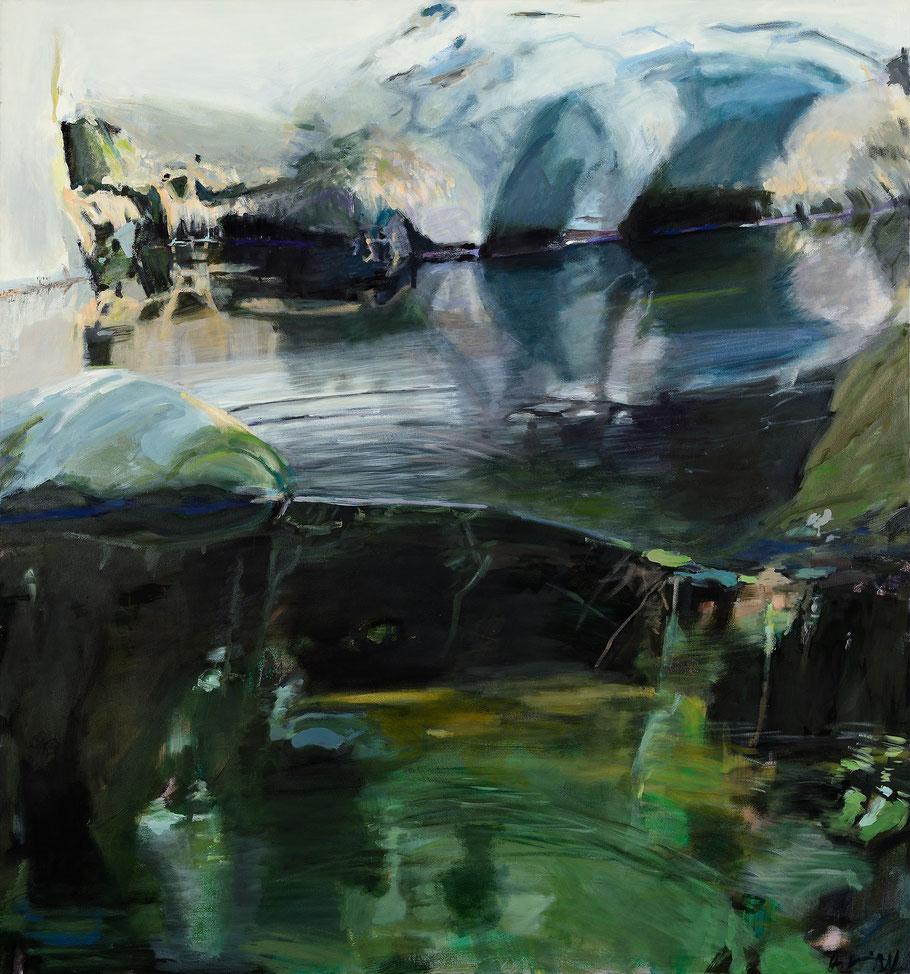 am Fluss 2013 160 x 150 cm Öl / Leinwand