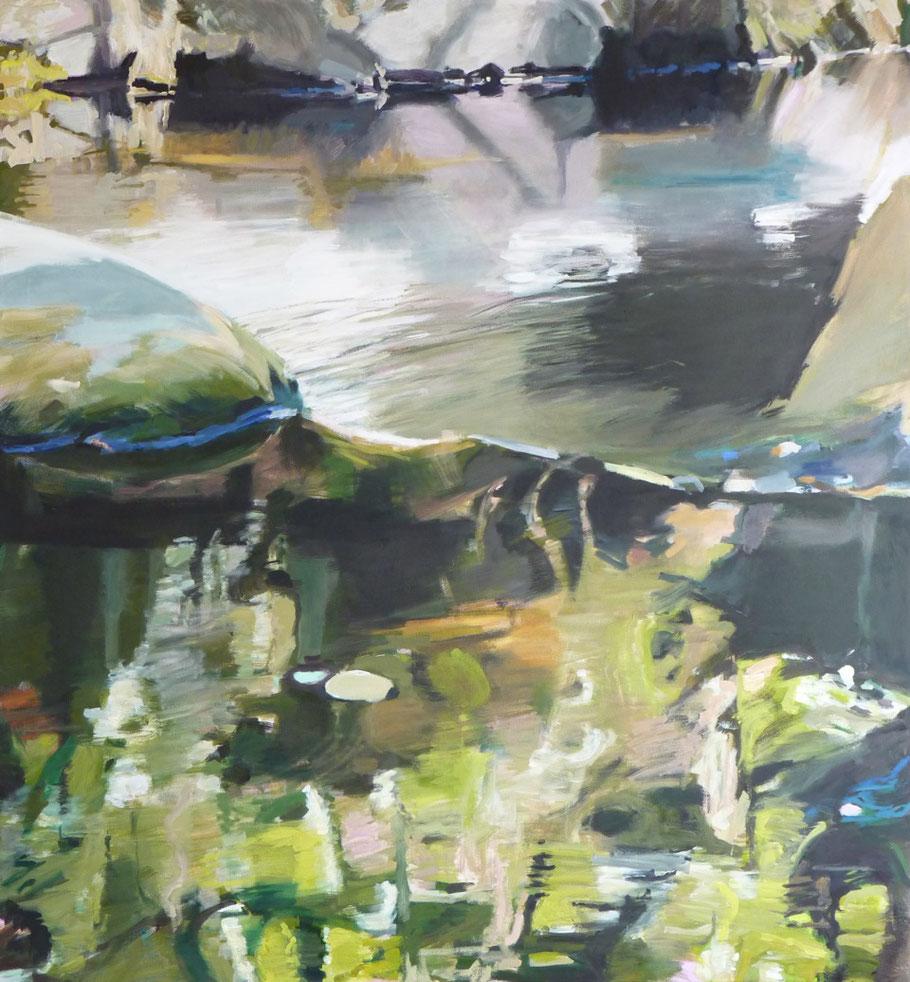 am Fluss 2 2013 160 x 150 cm Öl / Leinwand