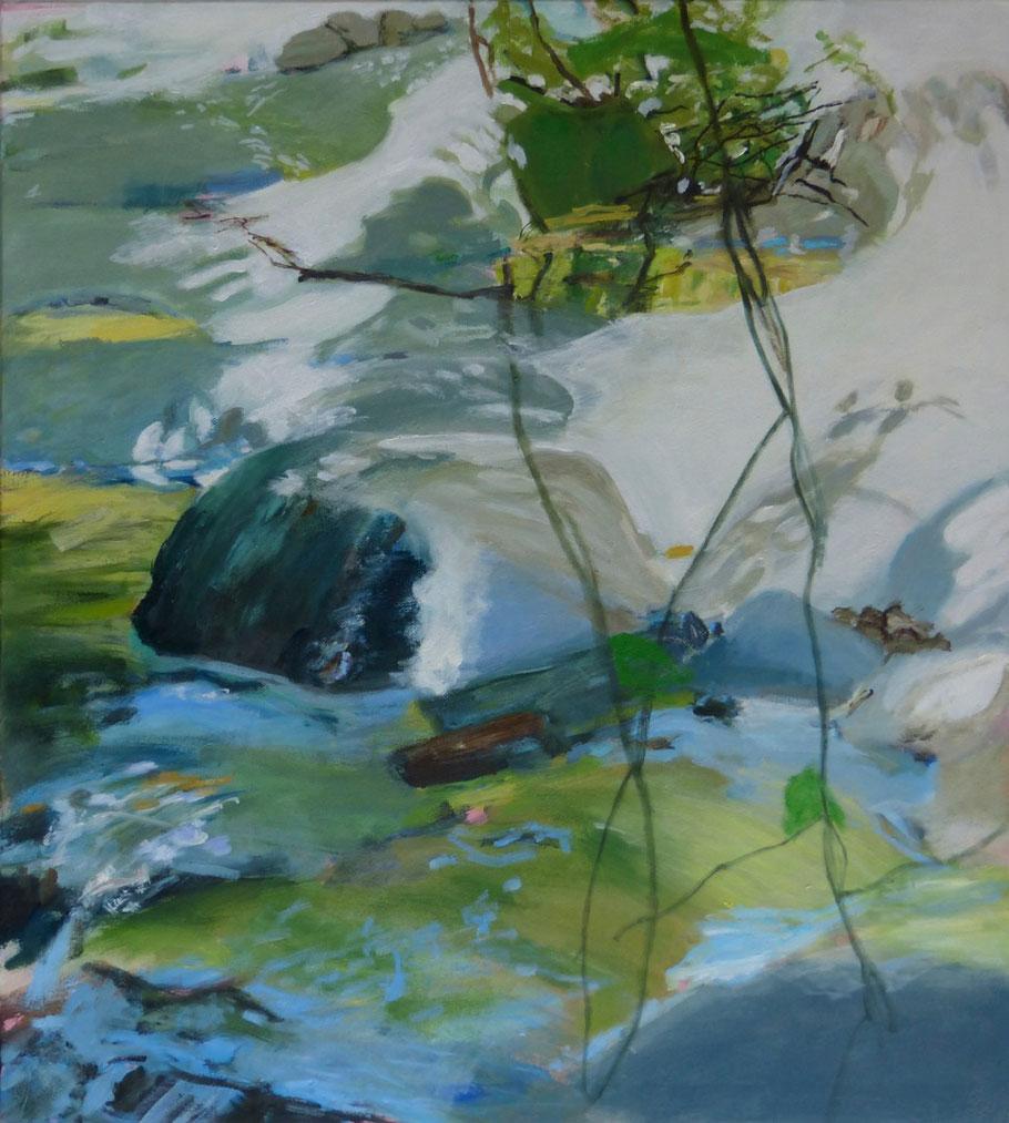 fiume Nr.3 2013 100 x 90 cm Öl / Leinwand