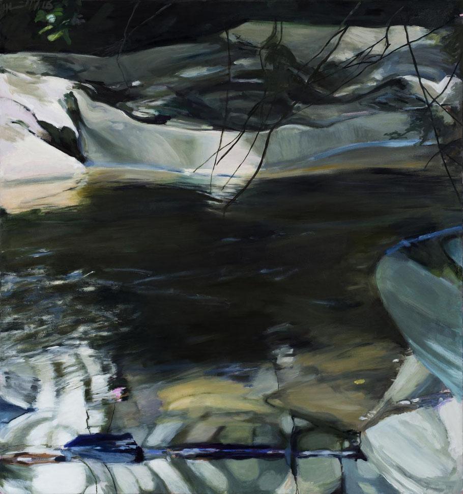 Zwei Ufer 2016 160 x 150 cm Öl / Leinwand