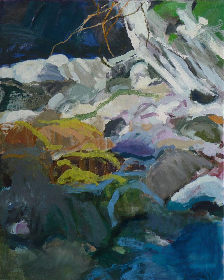 Versteck 2011 100 x 80 cm Öl / Leinwand