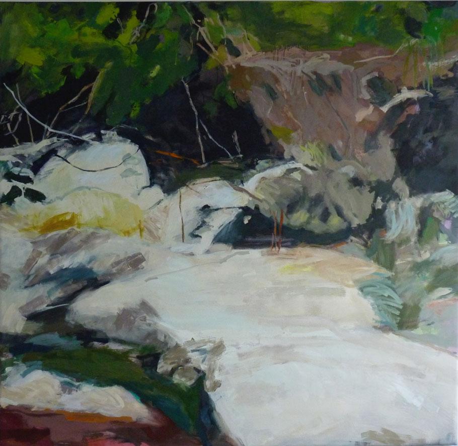 Kommen und werden 2011 160 x 150 cm Öl / Leinwand