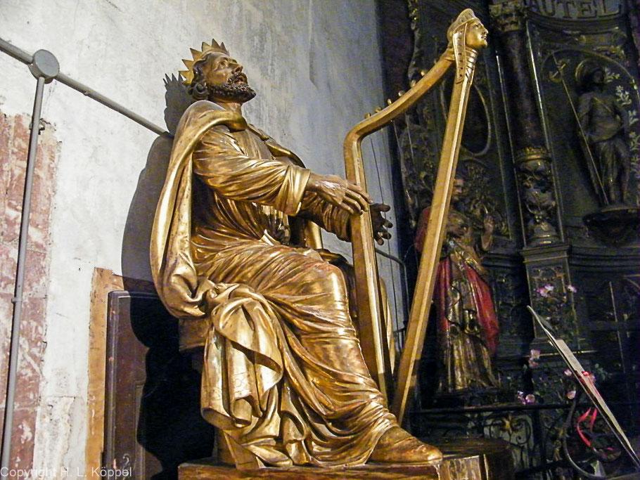 Bild: König David in der Kirche St. Etienne von Ille-sur-Tête
