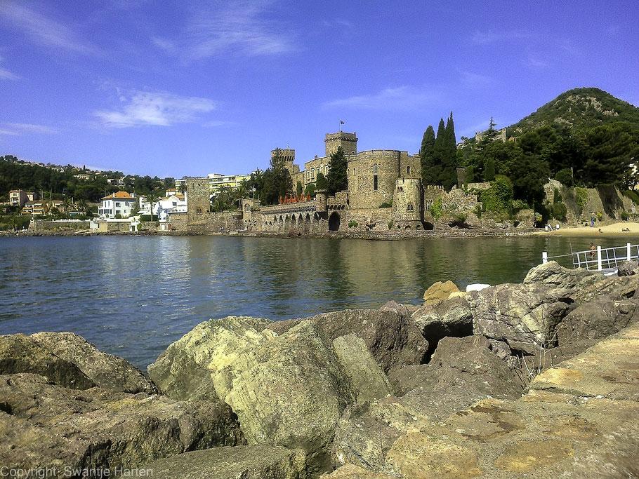Bild: Blick auf das Schloss von Mandelieu-la-Napoule