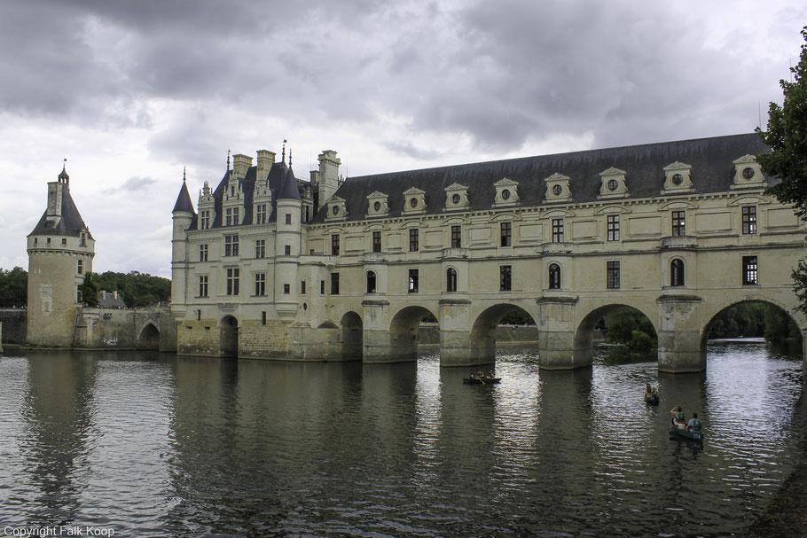 Bild: Blick auf Château Chenonceau