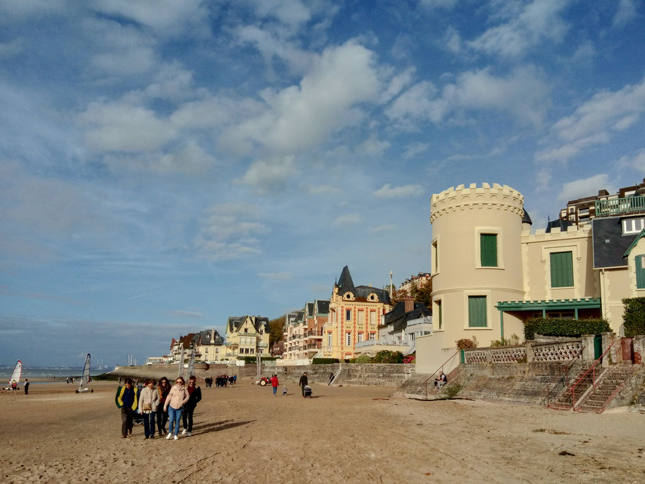 Bild: Strand in Trouville-sur-mer