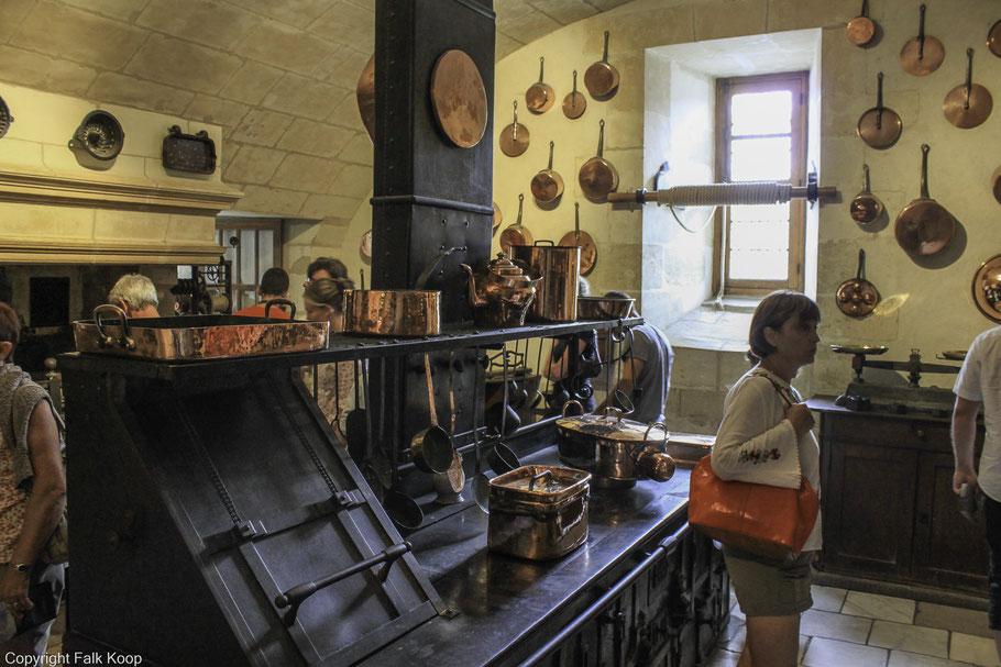 Bild: Château Chenonceau in der Küche