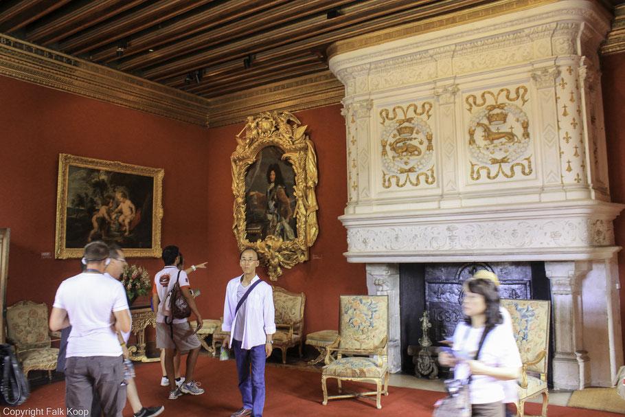 Bild: Château Chenonceau  im Salon Ludwig XIV.