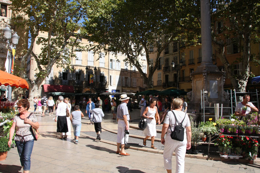 Bild: Markt in Aix-en-Provence