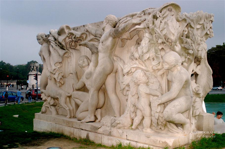 Bild: Skulptur in Jardin de Trocadéro