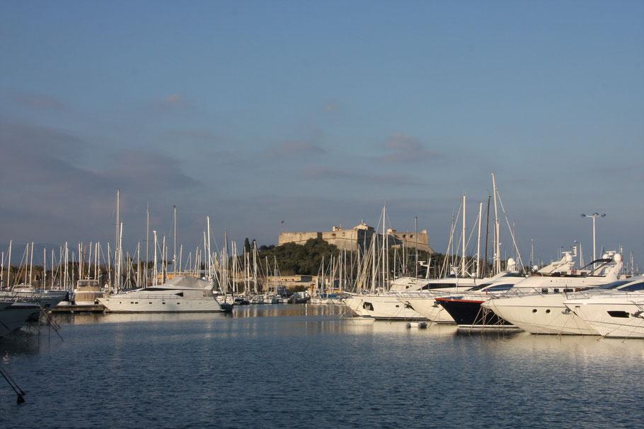 Bild: Blick auf Fort Carré in Antibes