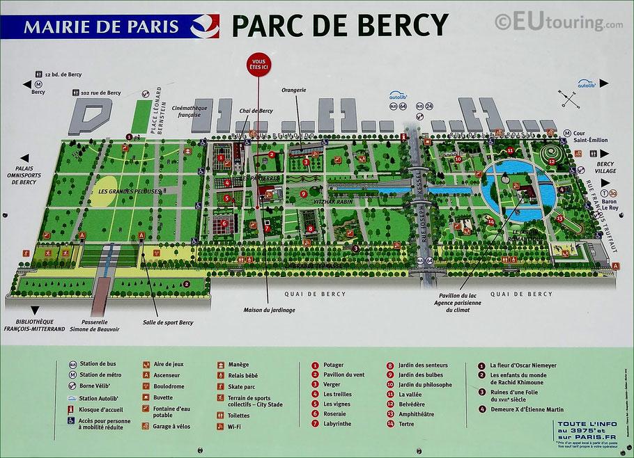 Bild: Plan des Parc de Bercy