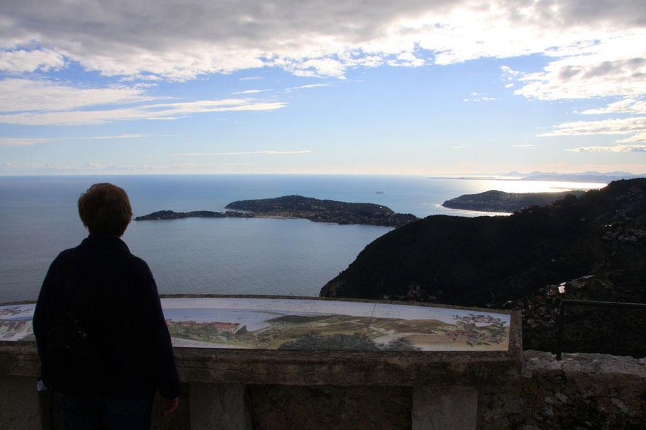 Bild: Blick von Èze auf das Meer
