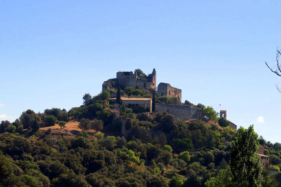 Bild: Blick aas Château von Entrechaux, Provence