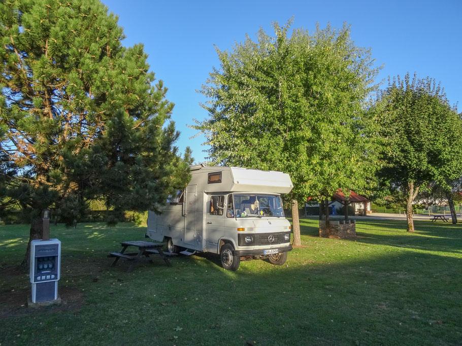 Bild: Auf dem Campingplatz Mont Clair.