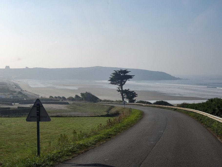 Bild: Auf der Fahrt zu den Kaps Pointe de Van und Pointe de Raz