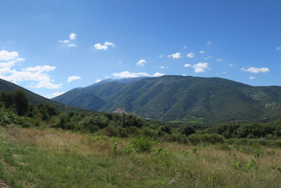 Bild: Am Horizont der Mont Ventoux
