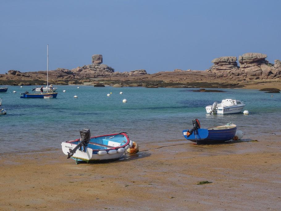 Bild: Hafen mit Le D´e in  Trégastel