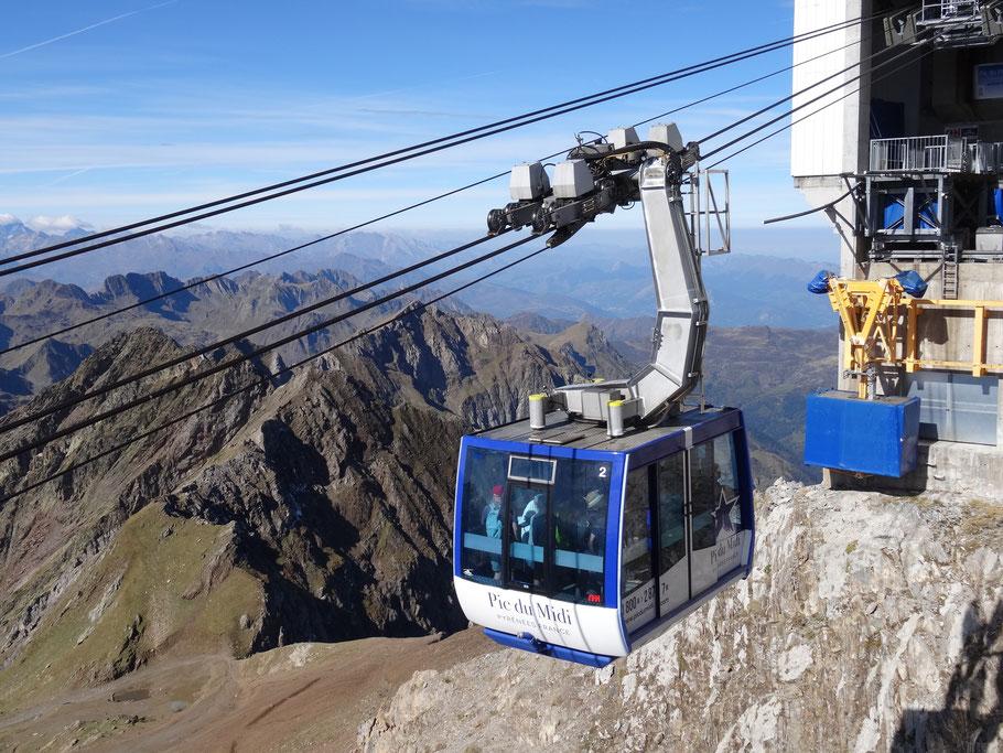 Bild: Seilbahn auf den Pic du Midi