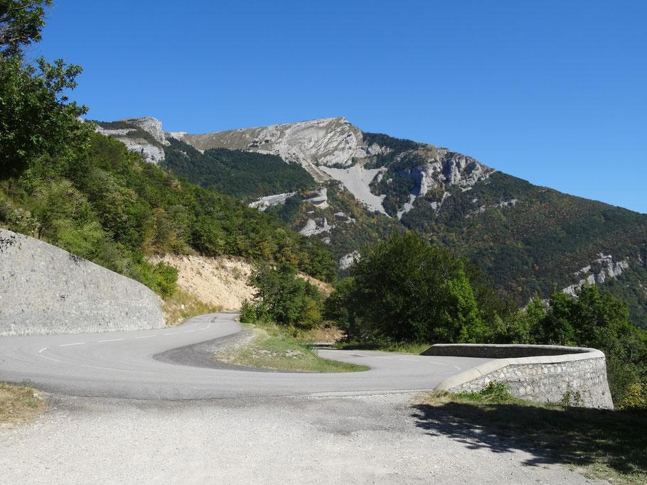 Bild: Gebirgsstraße nach Sisteron